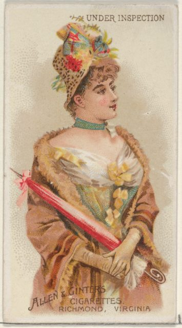 Under Inspection, from the Parasol Drills series (N18) for Allen & Ginter Cigarettes Brands