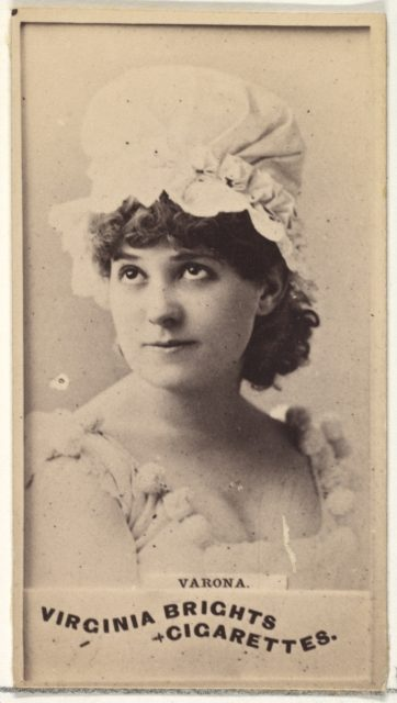Varona, from the Actors and Actresses series (N45, Type 1) for Virginia Brights Cigarettes