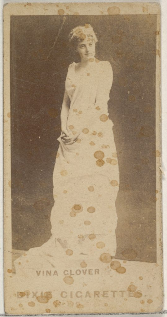 Vina Glover, from the Actors and Actresses series (N45, Type 7) for Dixie Cigarettes