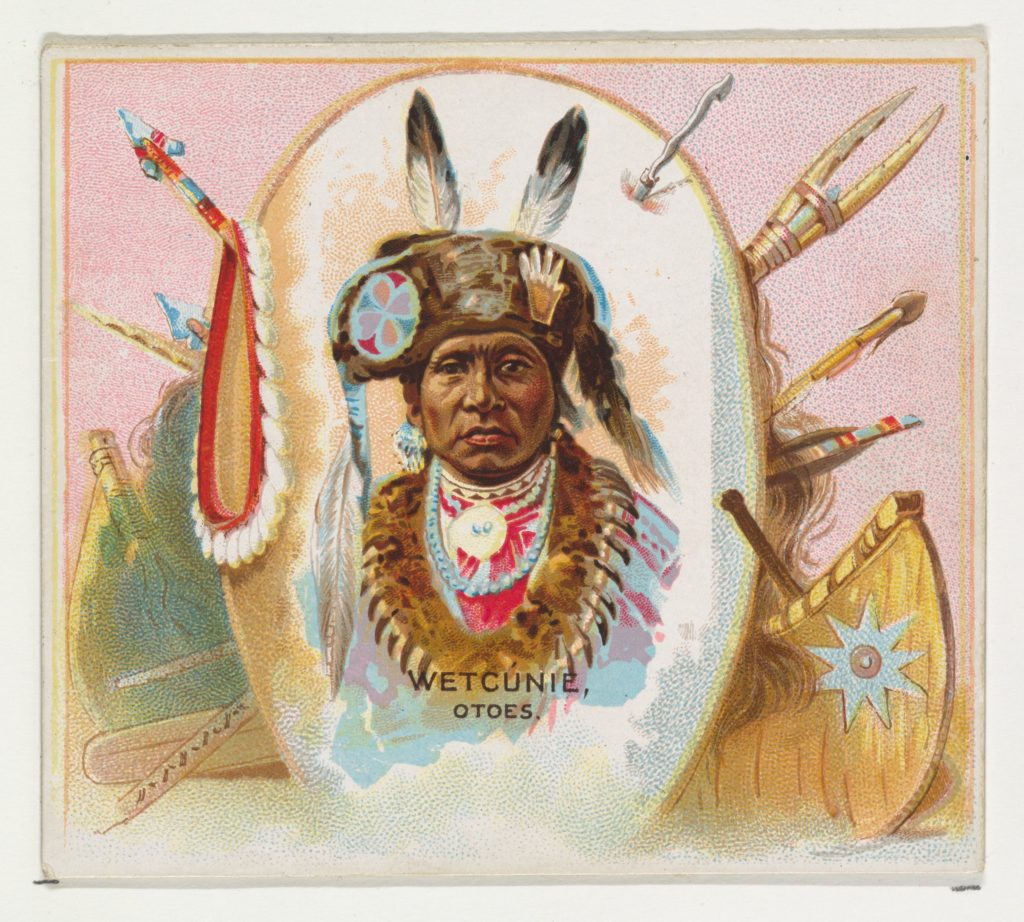 Wetcunie, Otoes, from the American Indian Chiefs series (N36) for Allen & Ginter Cigarettes
