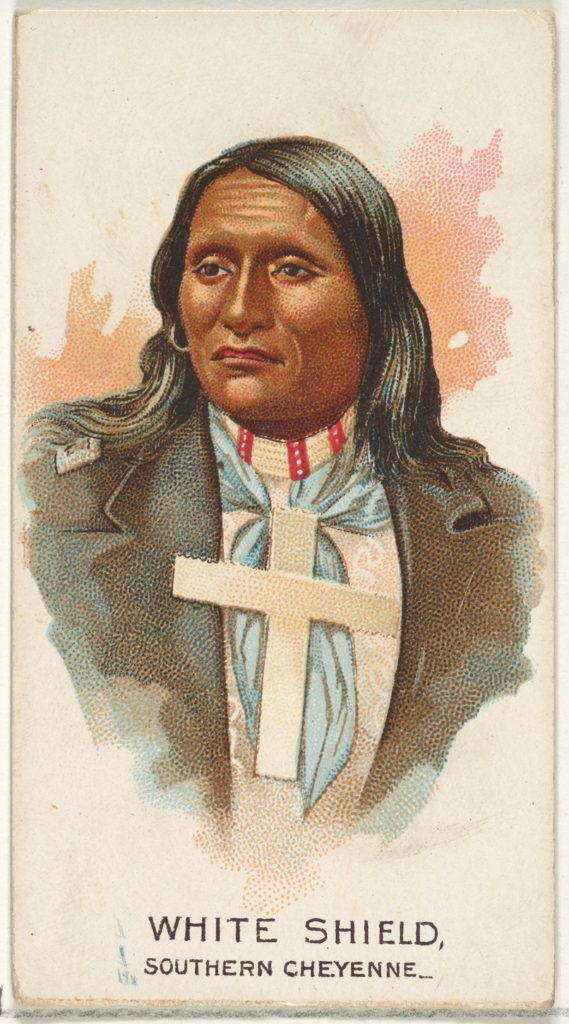 White Shield, Southern Cheyenne, from the American Indian Chiefs series (N2) for Allen & Ginter Cigarettes Brands