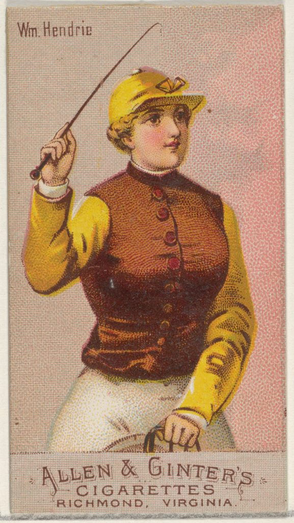 William Hendrie, from the Racing Colors of the World series (N22b) for Allen & Ginter Cigarettes