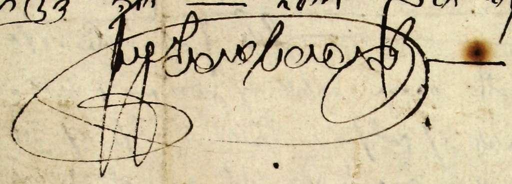 Signature of Zvi Hirsch Orenstein (cropped)