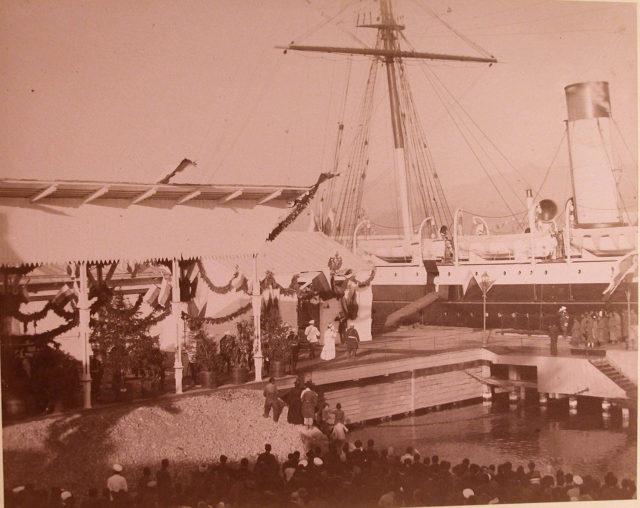 Emperor Alexander III in Batumi in 1888.