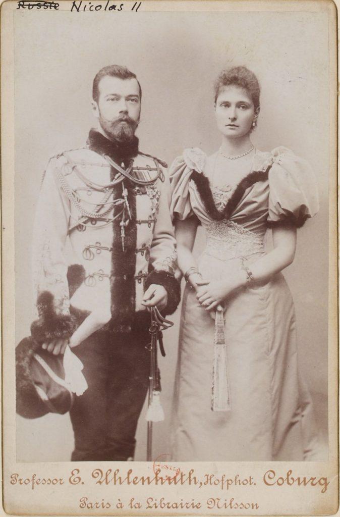 Emperor of Russia Nicolas II and wife - portrait, 1898