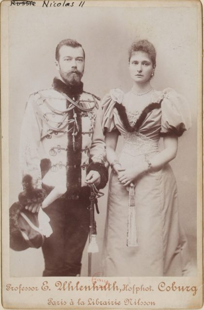 Emperor of Russia Nicolas II and wife - portrait, 1898