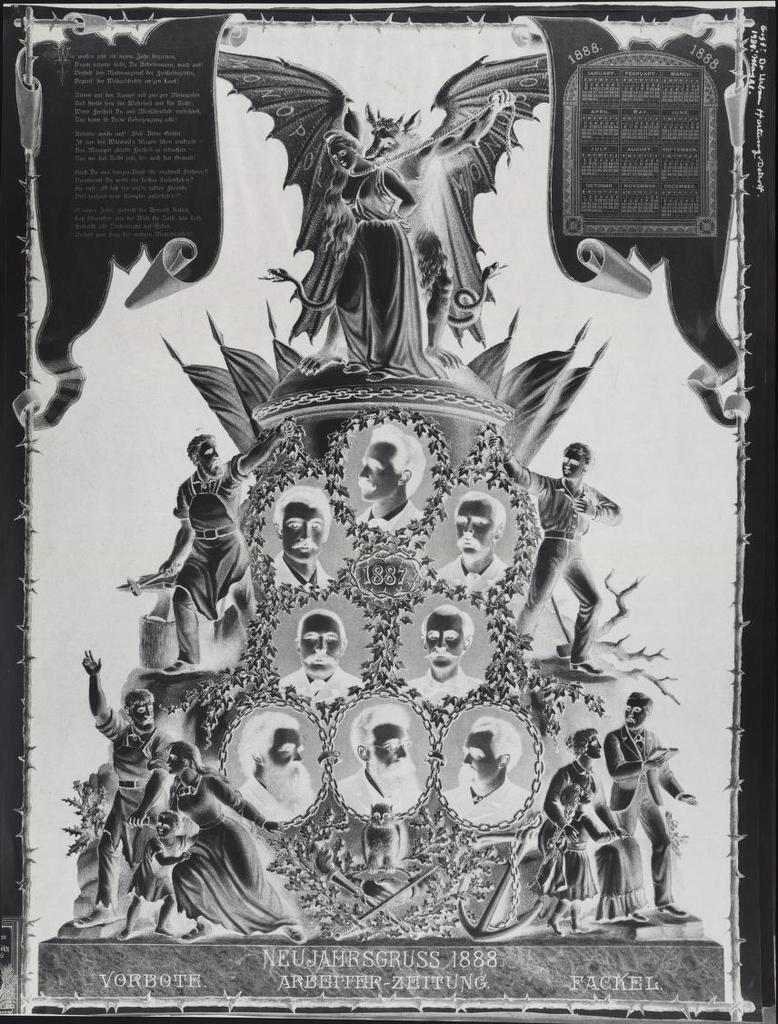 Neujahrsgruss 1888. Arbeiter-Zeitung