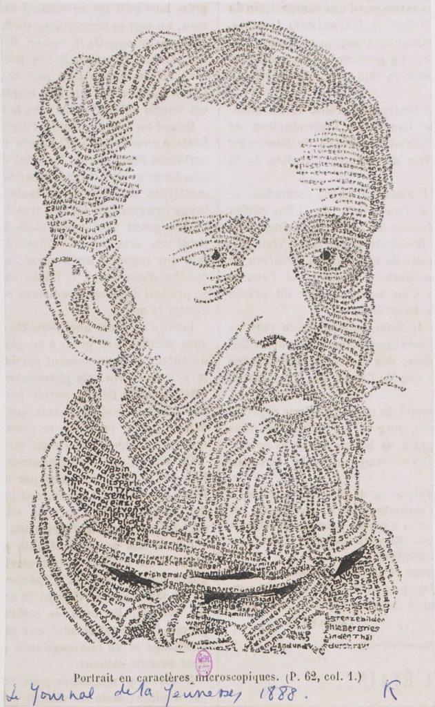 Portrait en caracters microscopiques, 1888