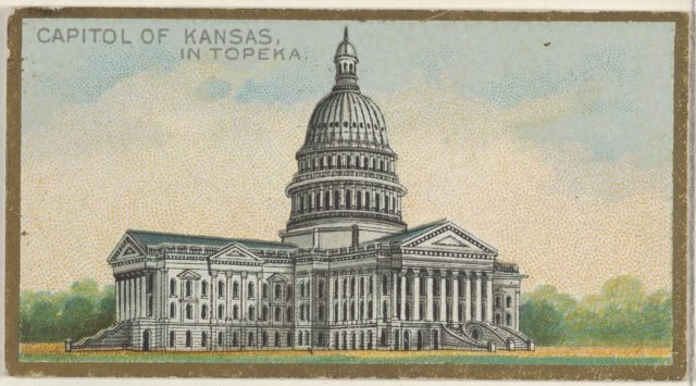 Capitol of Kansas in Topeka, from the General Government and State Capitol Buildings series (N14) for Allen & Ginter Cigarettes Brands