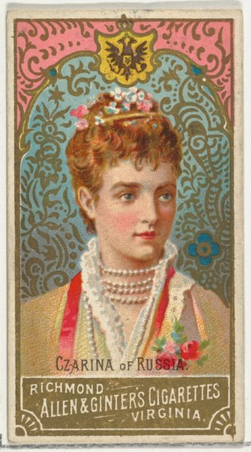 Czarina of Russia, from World's Sovereigns series (N34) for Allen & Ginter Cigarettes