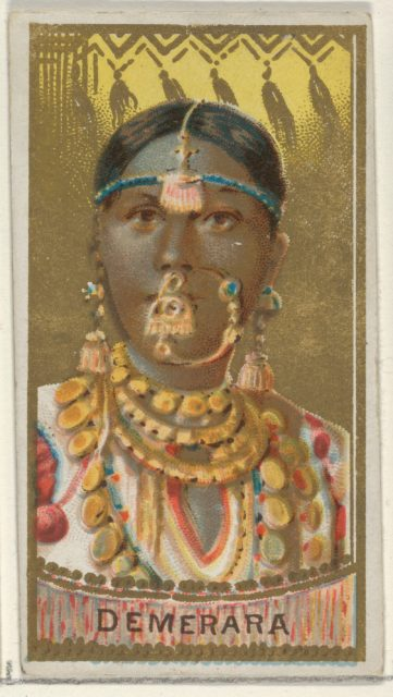 Demerara, from the Types of All Nations series (N24) for Allen & Ginter Cigarettes