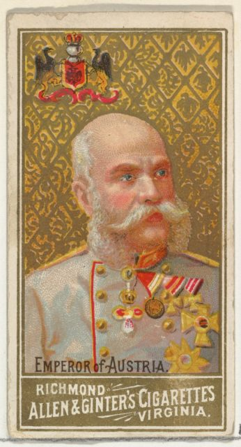 Emperor of Austria, from World's Sovereigns series (N34) for Allen & Ginter Cigarettes