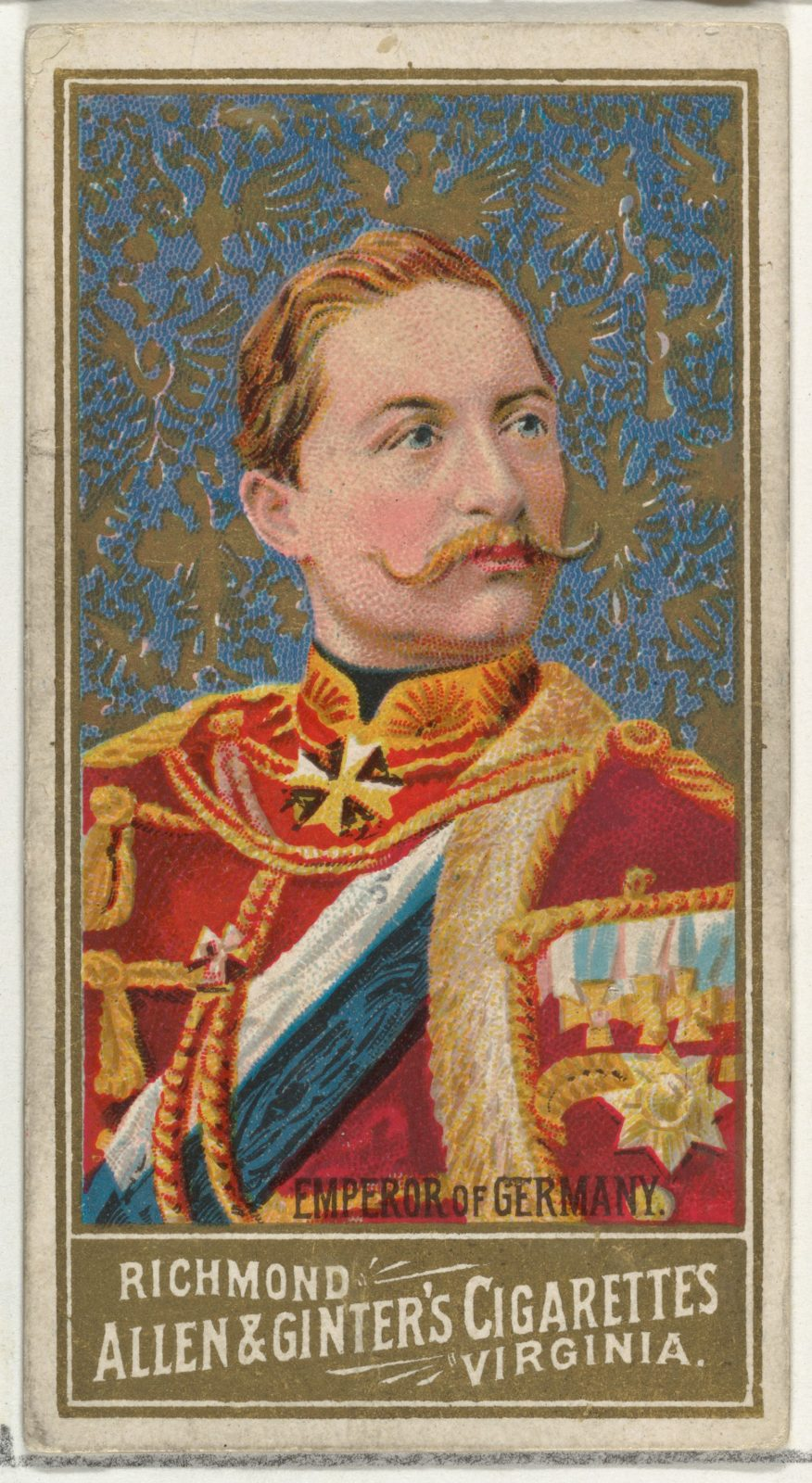 Emperor of Germany, from World's Sovereigns series (N34) for Allen & Ginter Cigarettes