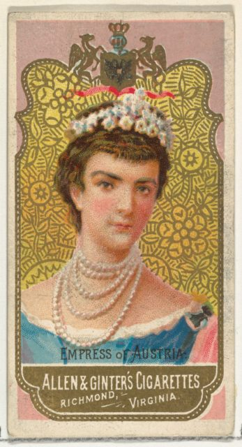 Empress of Austria, from World's Sovereigns series (N34) for Allen & Ginter Cigarettes
