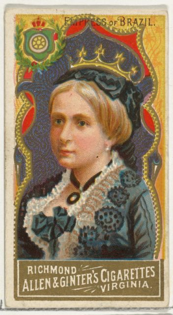 Empress of Brazil, from World's Sovereigns series (N34) for Allen & Ginter Cigarettes