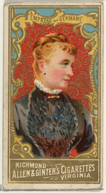Empress of Germany, from World's Sovereigns series (N34) for Allen & Ginter Cigarettes