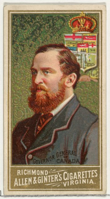 Governor General of Canada, from World's Sovereigns series (N34) for Allen & Ginter Cigarettes