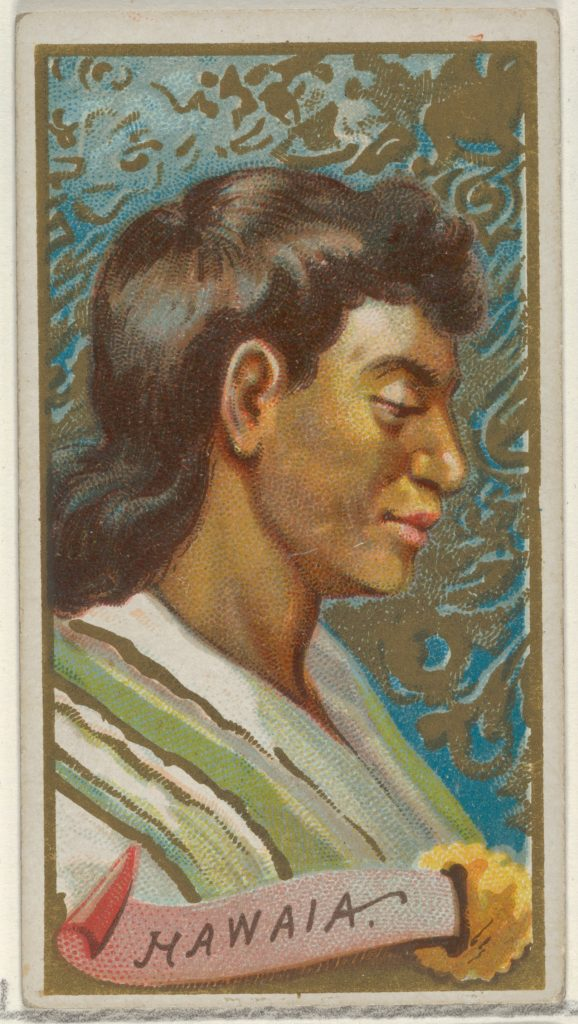 Hawaia, from the Types of All Nations series (N24) for Allen & Ginter Cigarettes