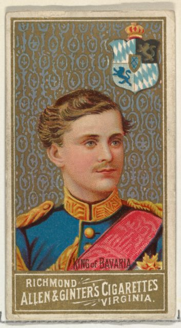 King of Bavaria, from World's Sovereigns series (N34) for Allen & Ginter Cigarettes