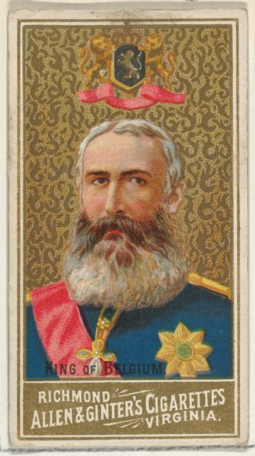King of Belgium, from World's Sovereigns series (N34) for Allen & Ginter Cigarettes