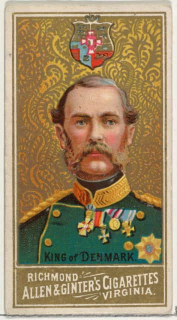 King of Denmark, from World's Sovereigns series (N34) for Allen & Ginter Cigarettes