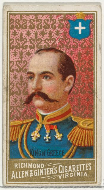 King of Greece, from World's Sovereigns series (N34) for Allen & Ginter Cigarettes