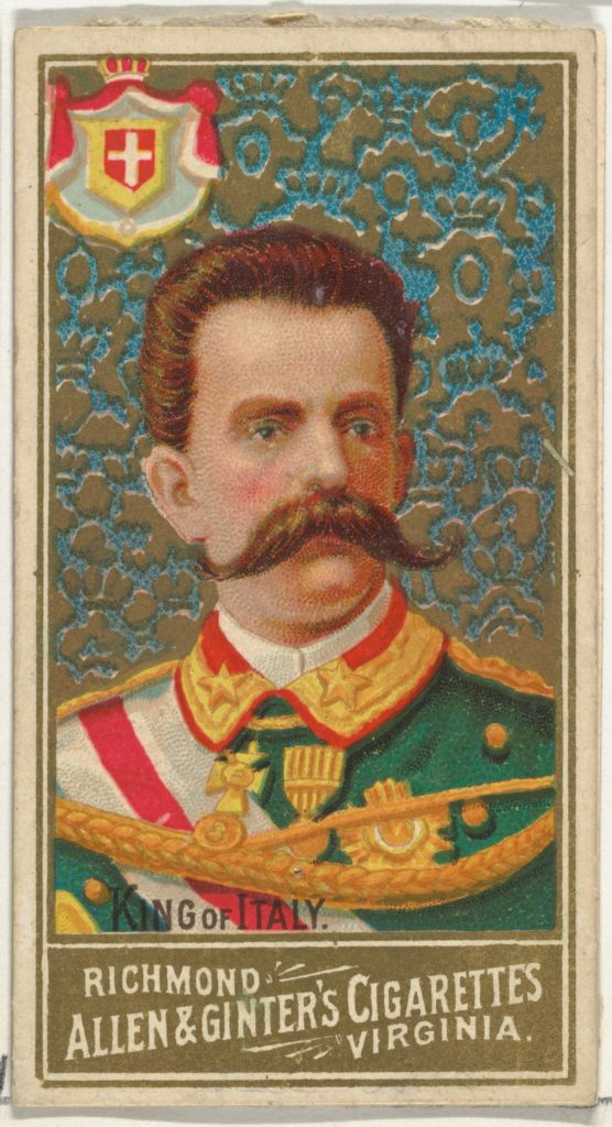 King of Italy, from World's Sovereigns series (N34) for Allen & Ginter Cigarettes