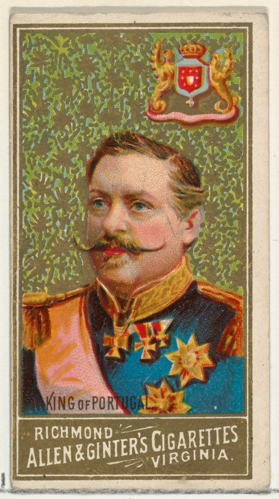 King of Portugal, from World's Sovereigns series (N34) for Allen & Ginter Cigarettes
