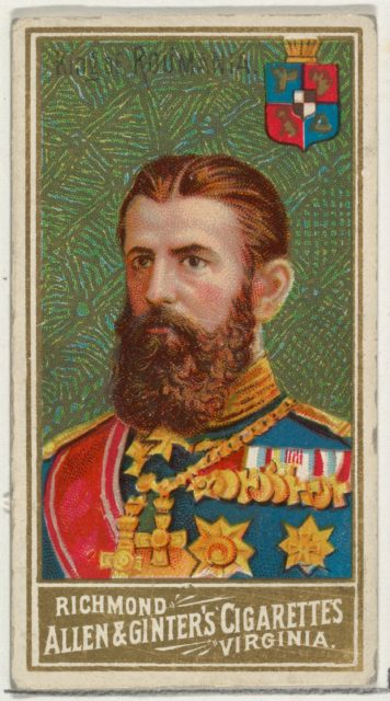 King of Romania, from World's Sovereigns series (N34) for Allen & Ginter Cigarettes