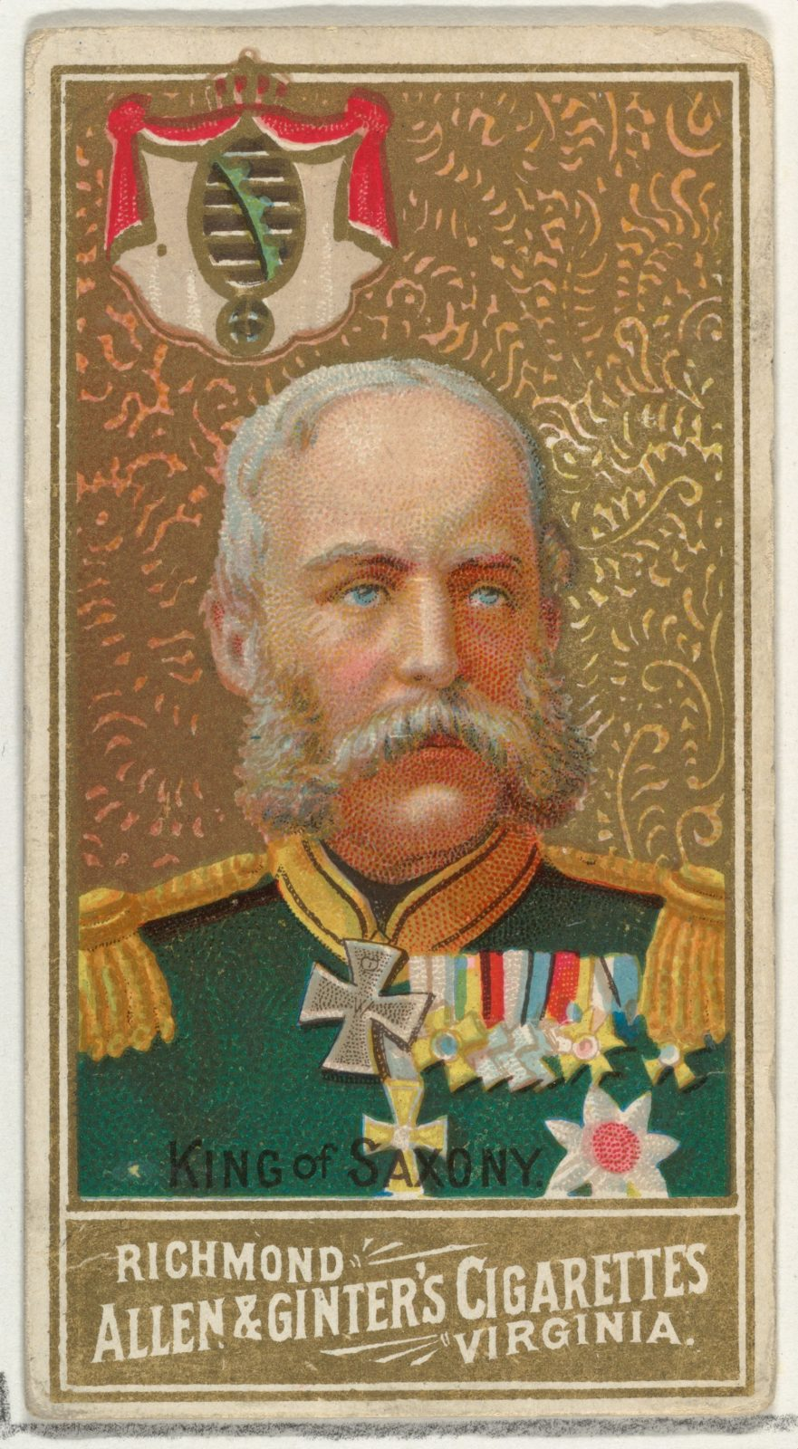 King of Saxony, from World's Sovereigns series (N34) for Allen & Ginter Cigarettes