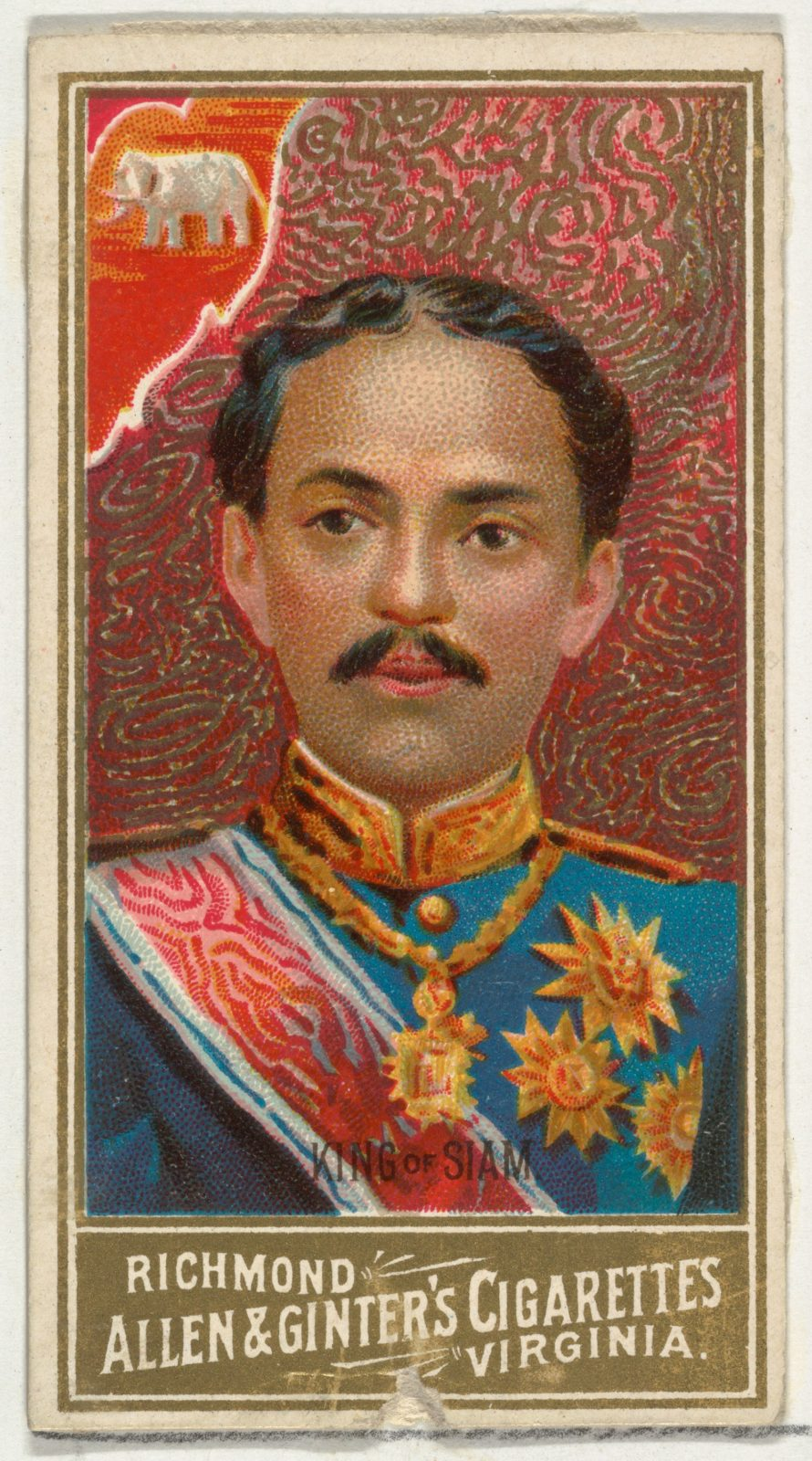 King of Siam, from World's Sovereigns series (N34) for Allen & Ginter Cigarettes