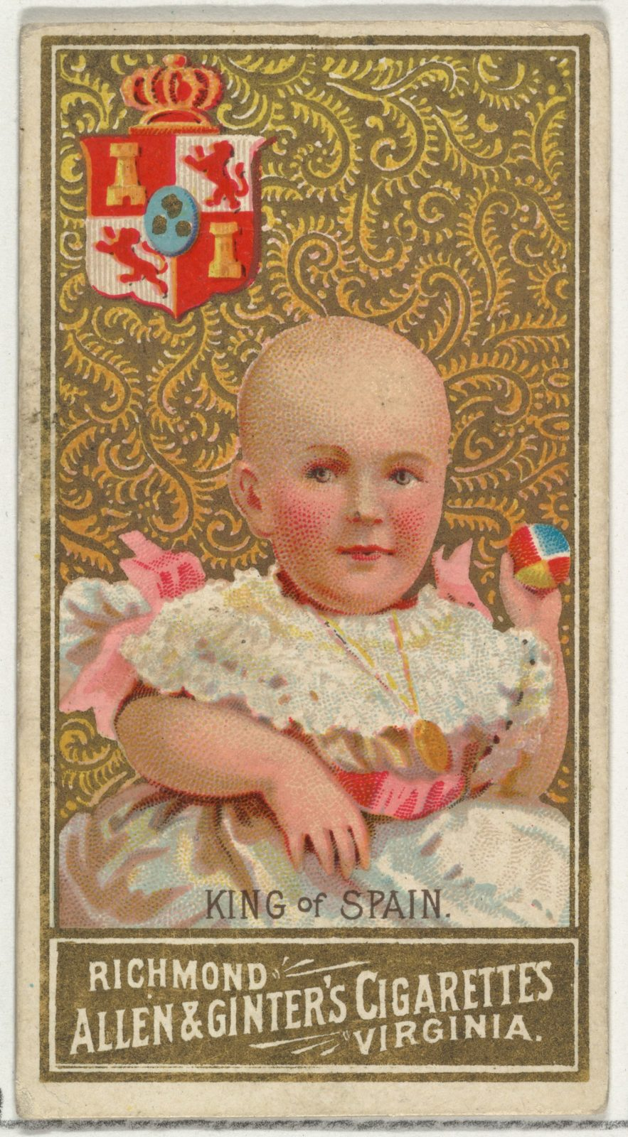 King of Spain, from World's Sovereigns series (N34) for Allen & Ginter Cigarettes