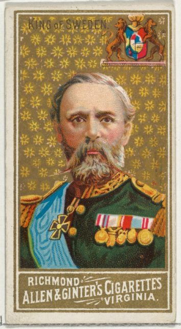 King of Sweden, from World's Sovereigns series (N34) for Allen & Ginter Cigarettes