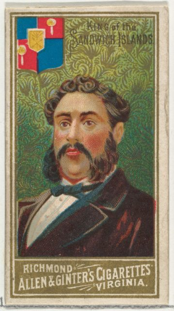 King of the Sandwich Islands, from World's Sovereigns series (N34) for Allen & Ginter Cigarettes