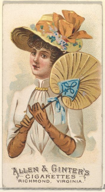 Plate 34, from the Fans of the Period series (N7) for Allen & Ginter Cigarettes Brands