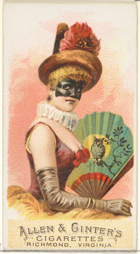 Plate 4, from the Fans of the Period series (N7) for Allen & Ginter Cigarettes Brands
