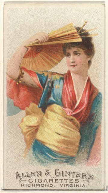 Plate 43, from the Fans of the Period series (N7) for Allen & Ginter Cigarettes Brands
