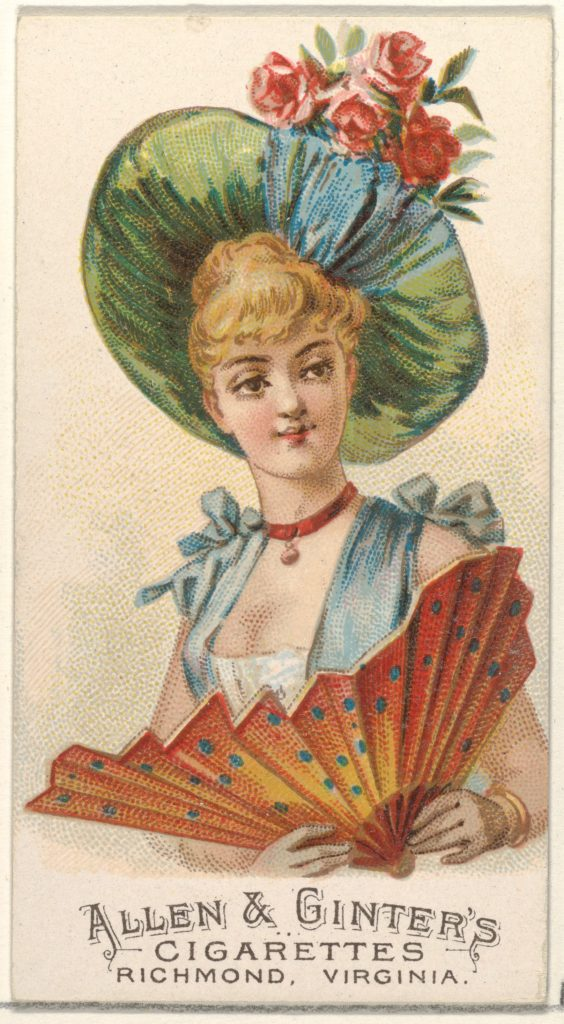 Plate 50, from the Fans of the Period series (N7) for Allen & Ginter Cigarettes Brands