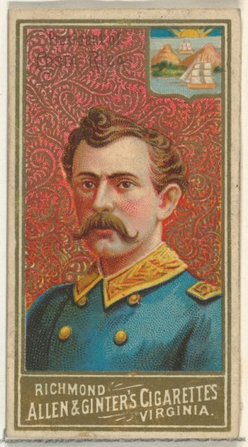 President of Costa Rica, from World's Sovereigns series (N34) for Allen & Ginter Cigarettes
