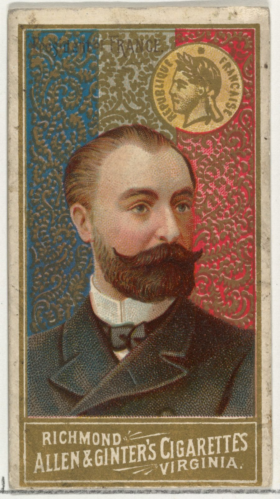 President of France, from World's Sovereigns series (N34) for Allen & Ginter Cigarettes