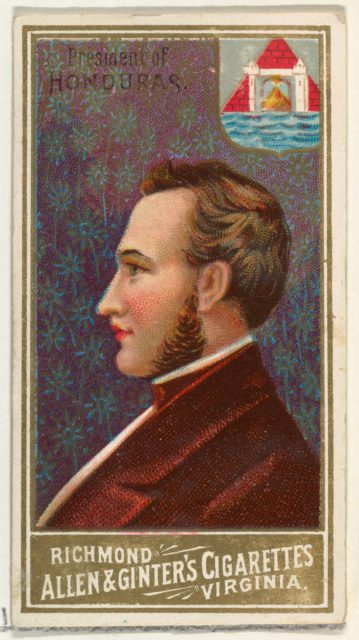 President of Honduras, from World's Sovereigns series (N34) for Allen & Ginter Cigarettes