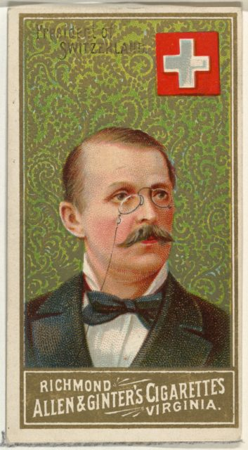 President of Switzerland, from World's Sovereigns series (N34) for Allen & Ginter Cigarettes