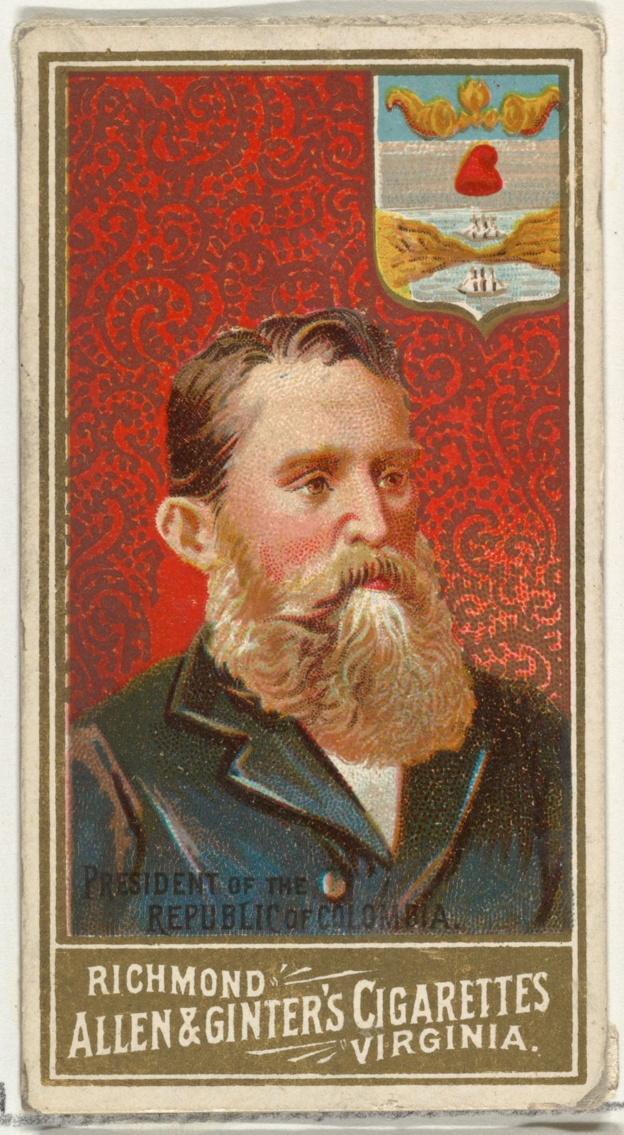 President of the Republic of Colombia, from World's Sovereigns series (N34) for Allen & Ginter Cigarettes
