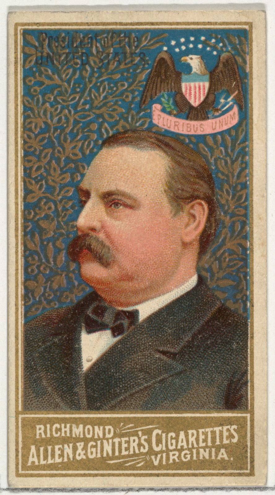 President of the United States, from World's Sovereigns series (N34) for Allen & Ginter Cigarettes