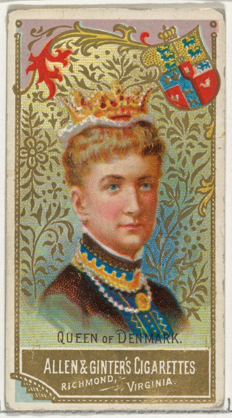 Queen of Denmark, from World's Sovereigns series (N34) for Allen & Ginter Cigarettes