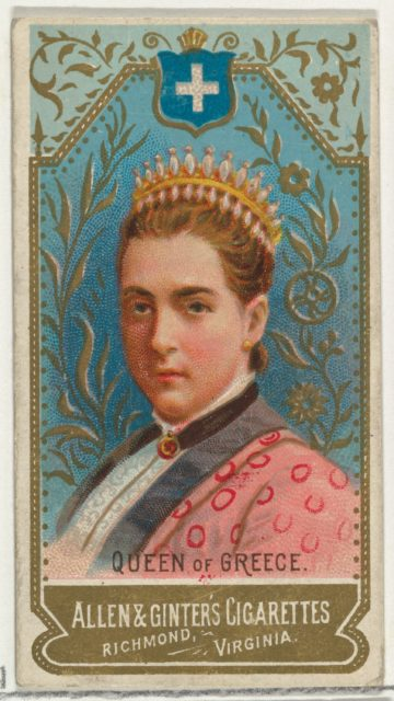 Queen of Greece, from World's Sovereigns series (N34) for Allen & Ginter Cigarettes