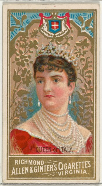 Queen of Italy, from World's Sovereigns series (N34) for Allen & Ginter Cigarettes