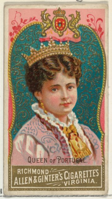 Queen of Portugal, from World's Sovereigns series (N34) for Allen & Ginter Cigarettes