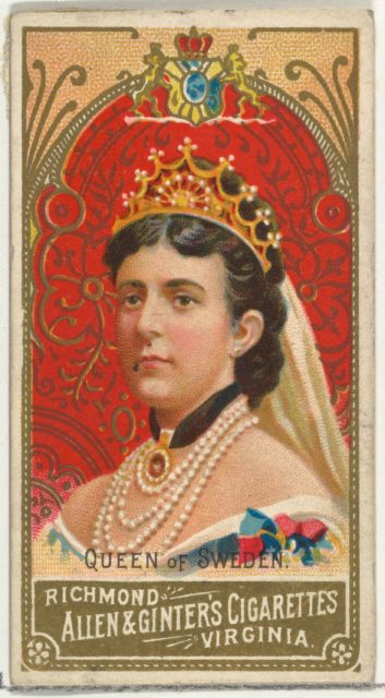 Queen of Sweden, from World's Sovereigns series (N34) for Allen & Ginter Cigarettes