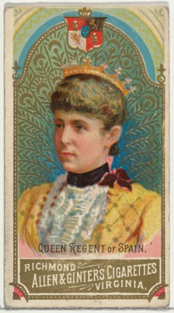 Queen Regent of Spain, from World's Sovereigns series (N34) for Allen & Ginter Cigarettes